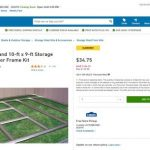 In Store – 75% Off – 10-ft x 8-ft and 10-ft x 9-ft Storage Building Floor Frame Kit