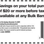 Bulk Barn Canada Coupons and Flyer Deals: Save $5 Off Your $20 Purchase with Coupons + 20% off Select Items