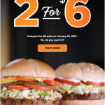 Harvey's Canada Promotions: Get 2 Original or Veggie Burgers for $6 | Canadian Freebies, Coupons, Deals, Bargains, Flyers, Contests Canada