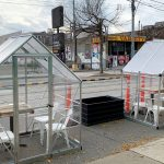 Toronto restaurant forced to remove private dining huts from curbside patio