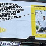 Toronto restaurant surprises its chef with a congratulatory billboard