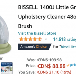 Amazon Canada Deals: Save 19% on BISSELL Little Green Portable Carpet & Upholstery Cleaner + 44% on Blackhead Vacuum Remover + More Offers | Canadian Freebies, Coupons, Deals, Bargains, Flyers, Contests Canada