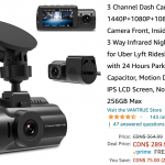 Amazon Canada Deals: Save 21% on 3 Channel Dash Cam + 26% on Balance Bike for Toddlers & Kids + More Offers | Canadian Freebies, Coupons, Deals, Bargains, Flyers, Contests Canada