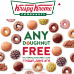 Krispy Kreme Canada National Doughnut Day Promotion: Any Doughnut FREE, Today!   Canadian Freebies, Coupons, Deals, Bargains, Flyers, Contests Canada